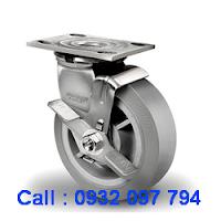 Bánh xe cao su, bánh xe inox, bánh xe xoay khóa
