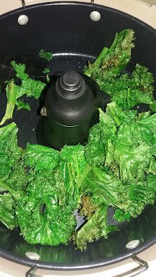 Chips de chou kale en Actifry;Chips de chou kale en Actifry