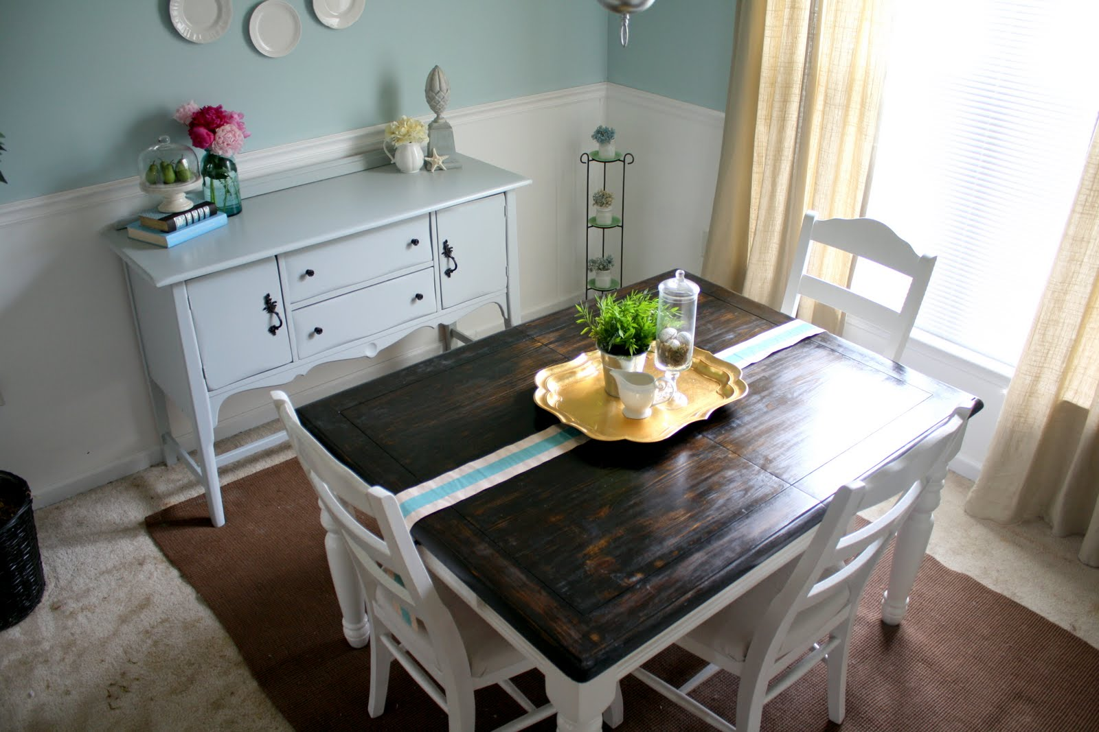 Refinishing the dining room table shannon claire for Kitchen table ideas
