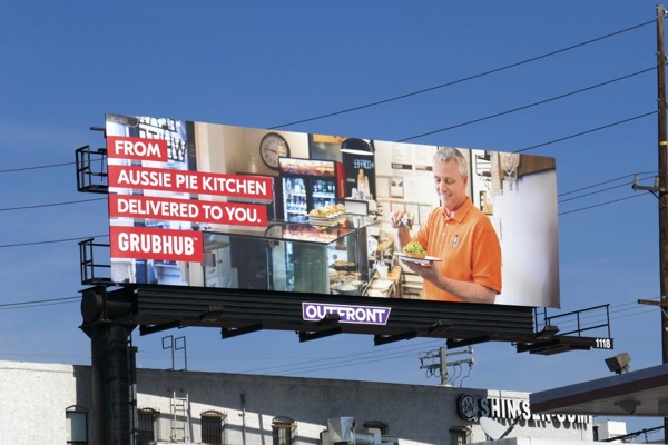 Aussie Pie Kitchen Grubhub billboard