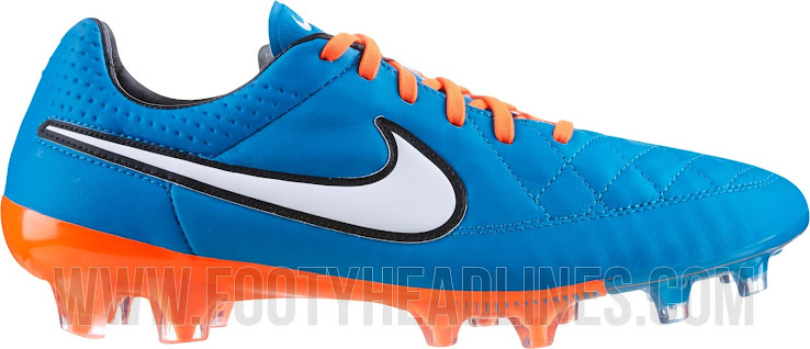super popular 156a9 ede93 This is the new blue / orange Nike Tiempo Legend V 2014-2015 Cleat.
