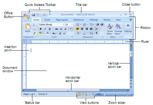 Tim Fourth: Komponen - Komponen Pada Microsoft Word 2007/2010