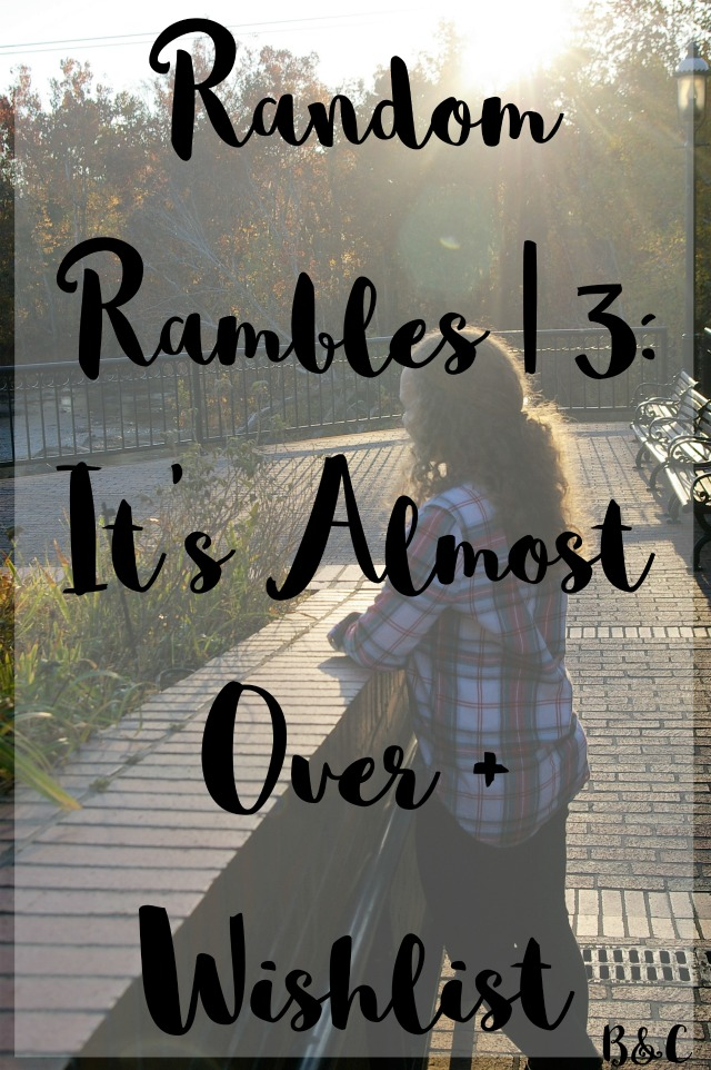 Random Rambles | 3: It's Almost Over + Wishlist football playoffs hunter rain boots Kendra Scott glitter iPhone case Patagonia pullover vest Dressember