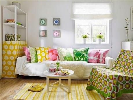 sala colorida primaveral