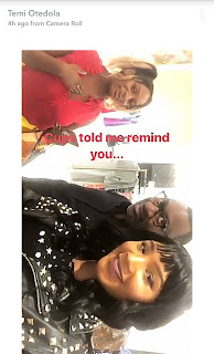 DJ Cuppy and Temi Otedola goes shopping with their Dad