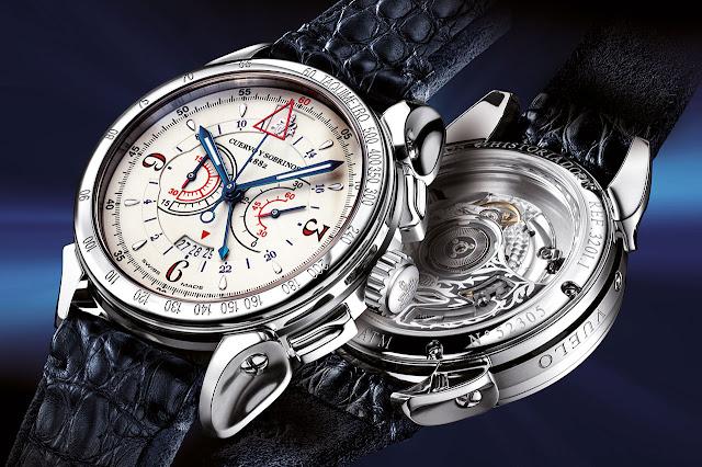 Cuervo y Sobrinos Historiador Vuelo mechanical automatic watch