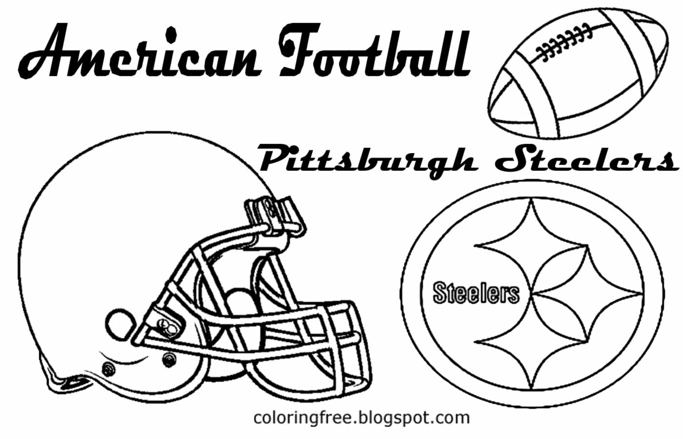 Pittsburgh steelers printable coloring pages
