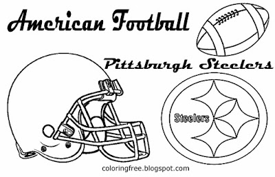 Pittsburgh Steelers printable American football coloring art pictures for youngsters USA sport games