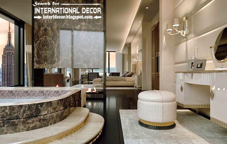 Luxury Classic Bathroom In Bedroom Interior Design Decor And Furniture