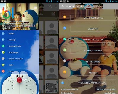 Download BBM Doraemon Transparan v3.1.0.13 APK