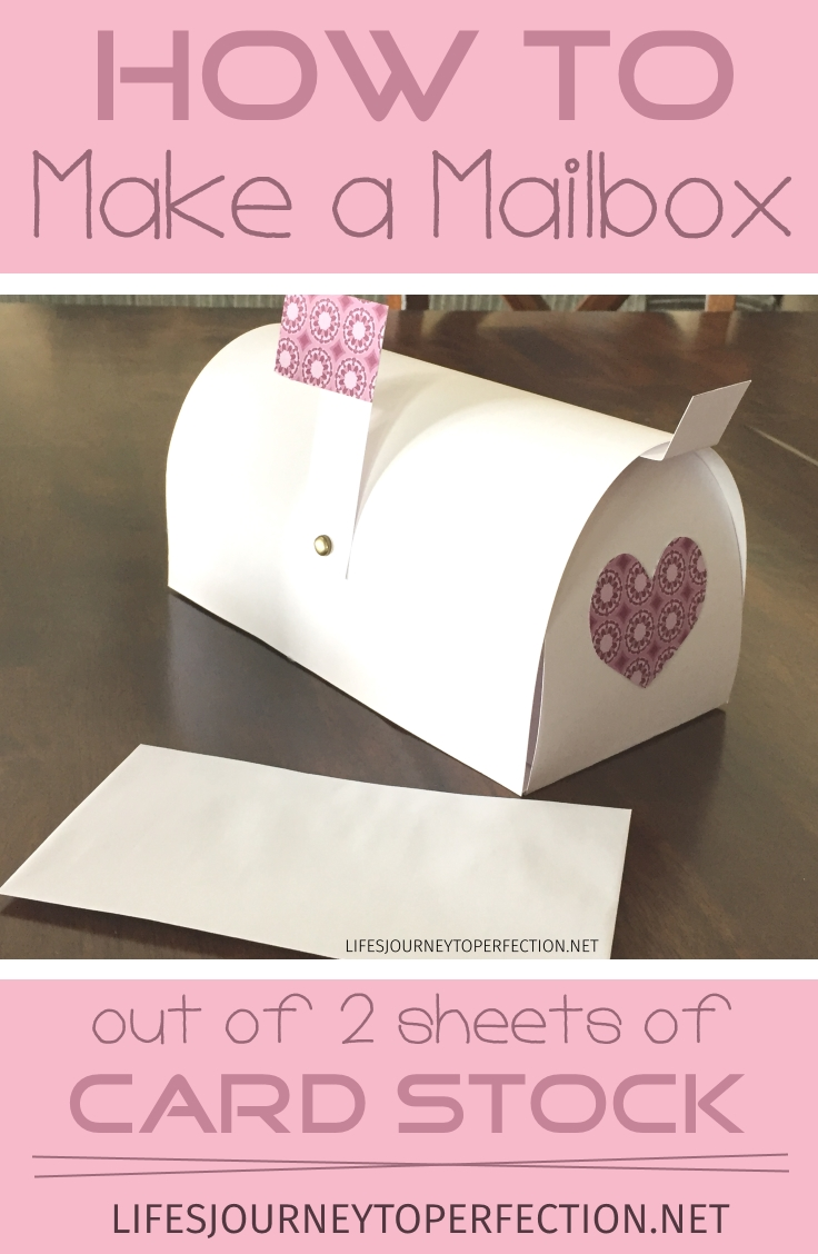 How To Make A Paper Mailbox Out Of 2 Sheets Of Card Stock!!