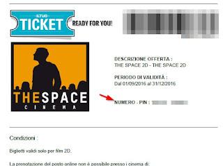 Codice prenotazione the space