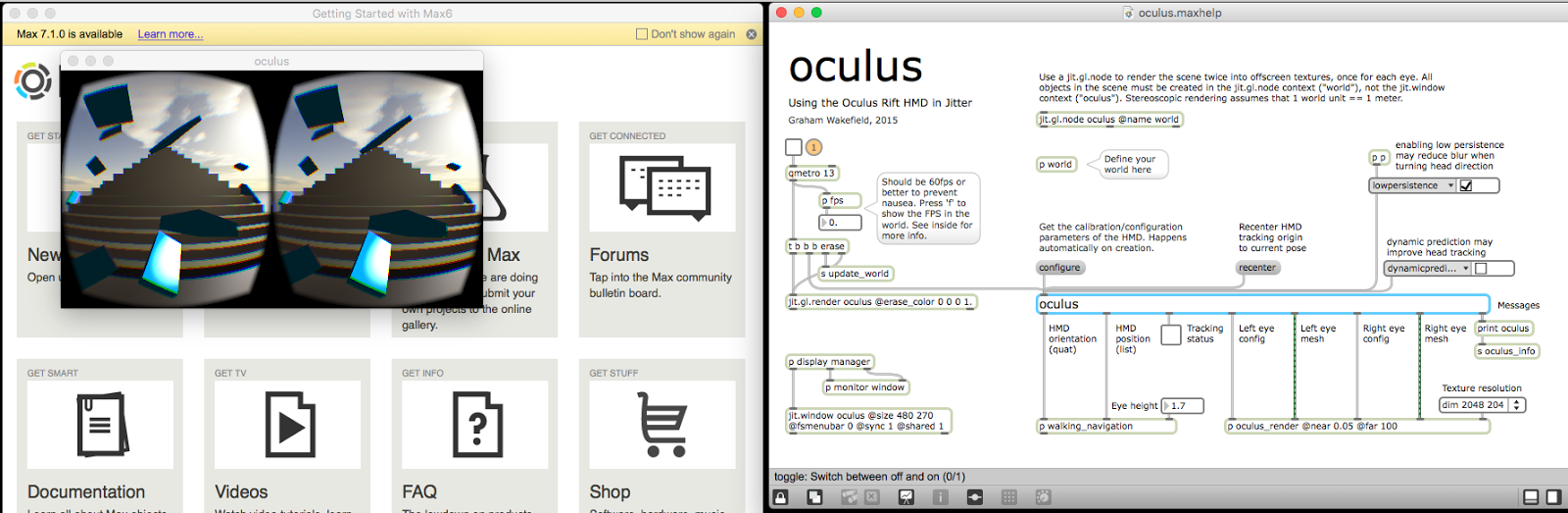 SoundGameSpace - Oculus: Oculus + Max MSP