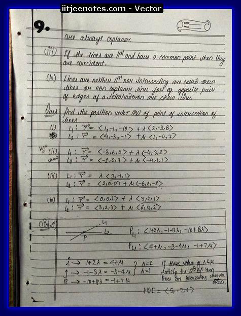 vector notes physics9