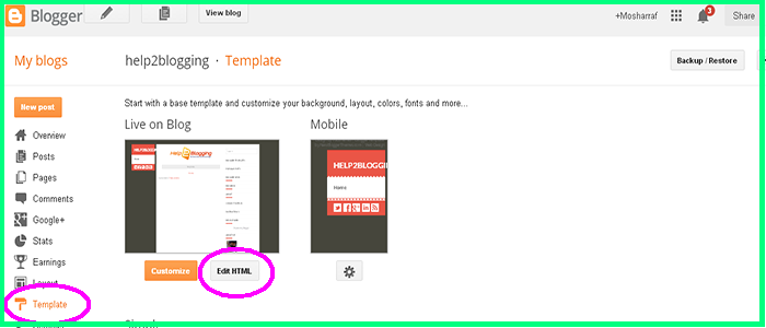 Add Floating Social Media Sharing Buttons To Blogger Template