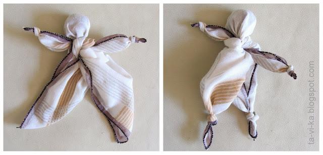 узелковые куклы из платка hanky-dolls