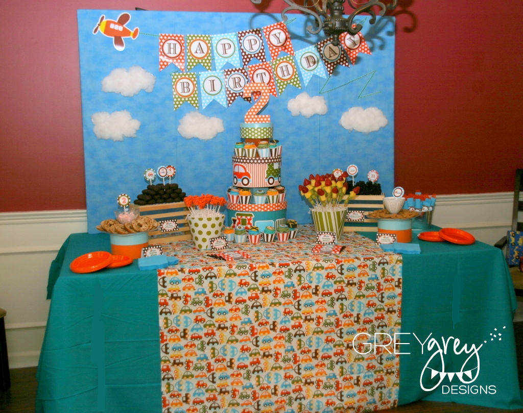 Bretts Planes Trains And Automobiles 2nd Birthday Party