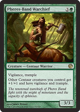 MtG expansion Journey into Nyx green creature centaur lord
