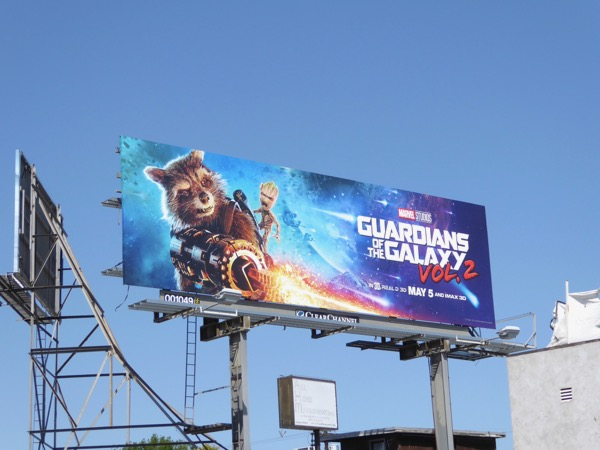 Guardians Galaxy 2 Rocket Groot billboard