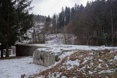 Lubomin pozostałości po bacówce pod Trójgarbem