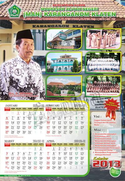 62+ Ide Contoh Desain Kalender 1 Lembar, Desain Kalender