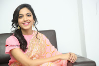 Actress Ritu Varma Pos in Beautiful Pink Anarkali Dress at at Keshava Movie Interview .COM 0327.JPG
