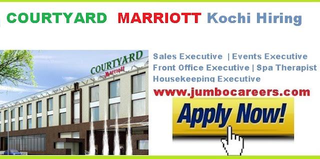 housekeeping jobs at Marriott Kochi, hotel jobs in cochin ernakulam