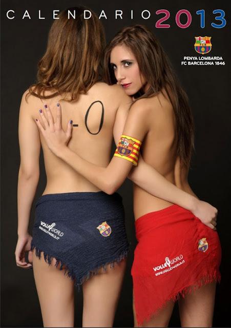 Fan Barcelona Simak Di Bawah Ini Model Kalender Seksi Barcelona