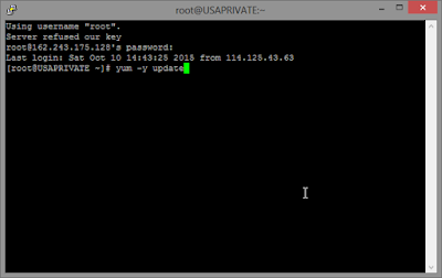 Panduan Lengkap Cara install Dropbear di Centos, Panduan Lengkap install Dropbear VPS CentOS di Putty, Mengupdate Repository dari VPS, Membuat Config Dropbear