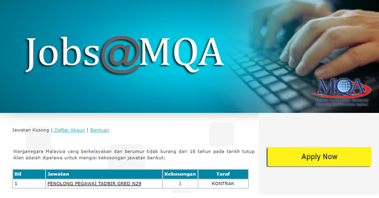 Jawatan Kosong di Agensi Kelayakan Malaysia MQA