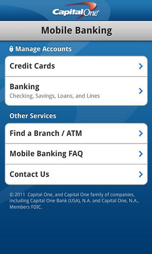 Capital One Online Banking Personal Checking