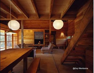 Interior de la Casa Granero en la IX Región de Chile