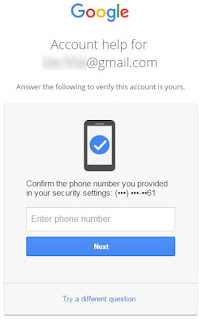 Confirm the phone number you provided in your security settings