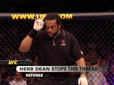 Herb Dean stops everything he can
