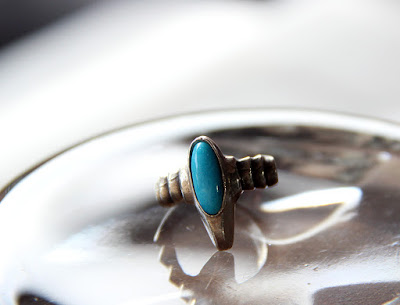 deco ring with turquoise by alex streeter