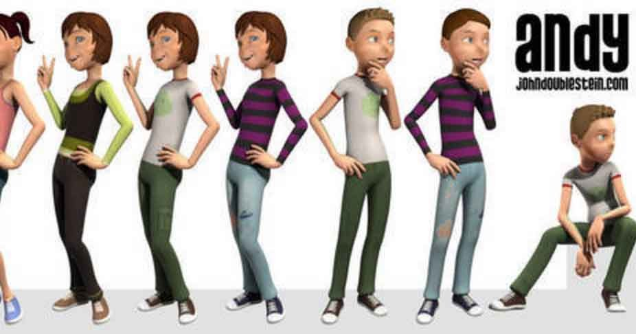 3d Animation And Character Design Fanshawe College : Animation the andy rig how to use it