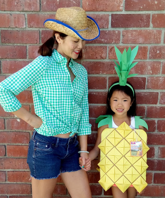 easy and cheap diy pineapple costume