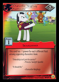 My Little Pony Chancellor Neighsay, Traditionalist Friends Forever CCG Card