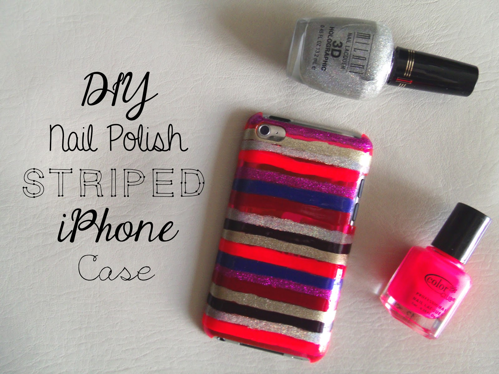 new products 85875 17188 DIY: Nail Polish Striped iPhone Case | Sincerely, Sara | Style ...
