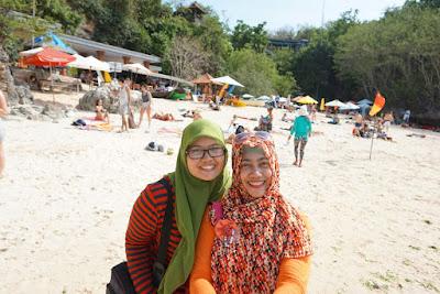 At Padang Padang Beach, Bali