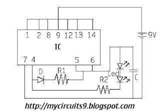 emergency light circuit diagram