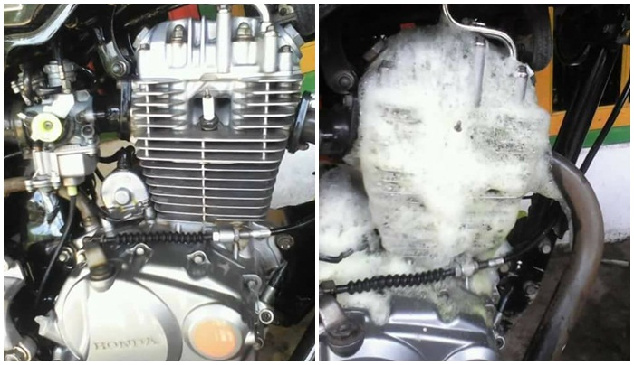 Cara membersihkan Mesin Motor Agar Kinclong Tampak Seperti Baru Lagi