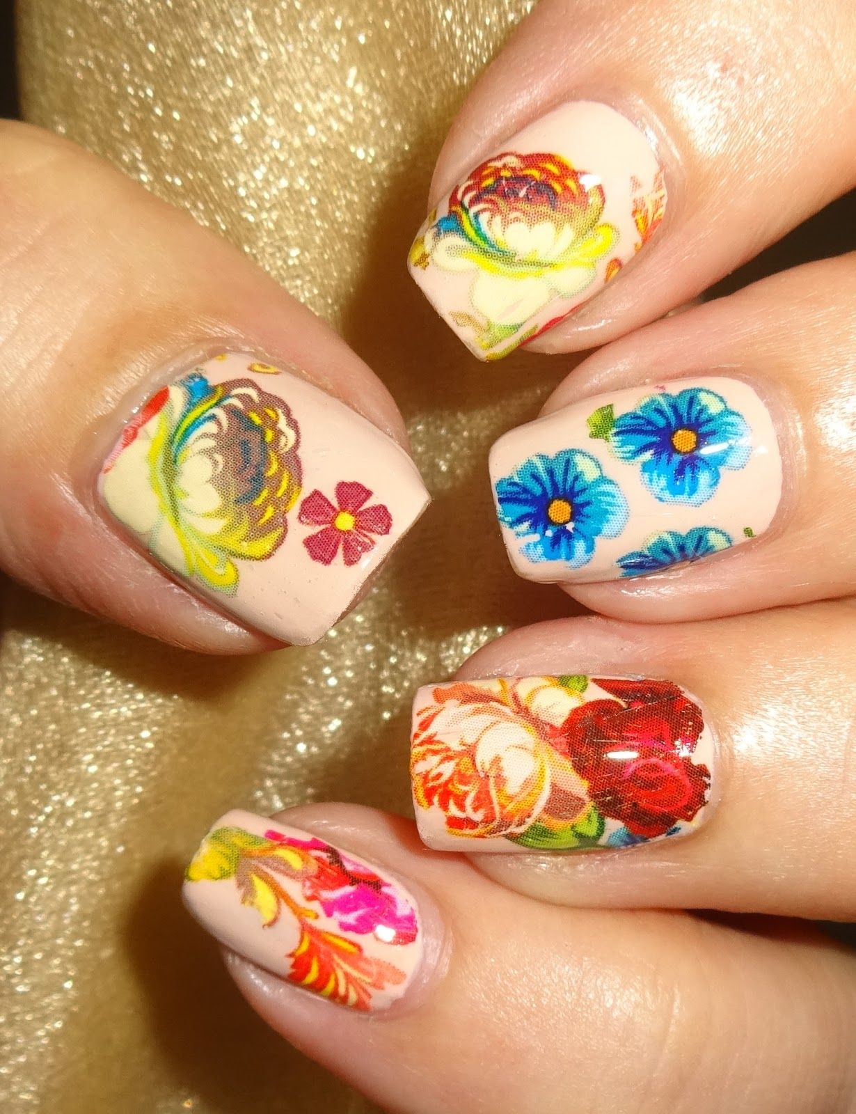 Summer Flower Nail Art Foil Blog By Wendys Delights Charlies Nail Art