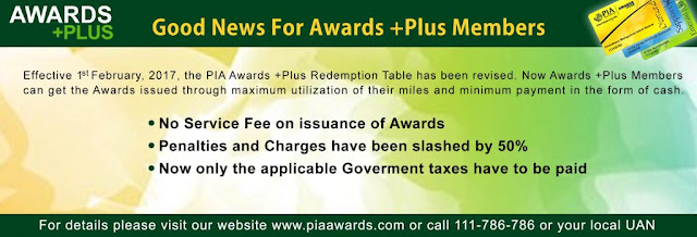 PIA Awards Plus Fequent Flyer Program