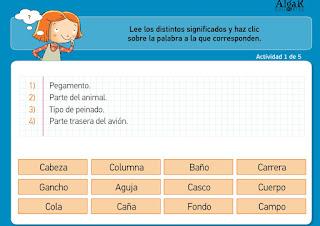 http://www.primerodecarlos.com/TERCERO_PRIMARIA/noviembre/Unidad4/actividades/lengua/polisemicas2.swf