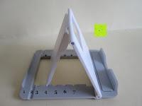 Stufen: Marrywindix Mehrere Karten-slots Multi-Winkel Handy Smartphone Tablet E-Reader Allgemeine Halterung Ständer Handyhalterung (Grau-Weiß)