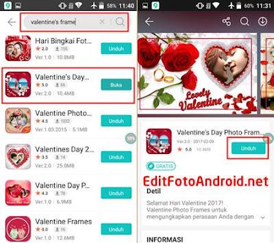 Edit Foto Bingkai Love Valentine Romantis