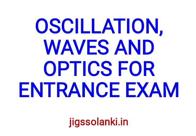 OSCILLATION, WAVES AND OPTICS FOR ENTRANCE EXAM