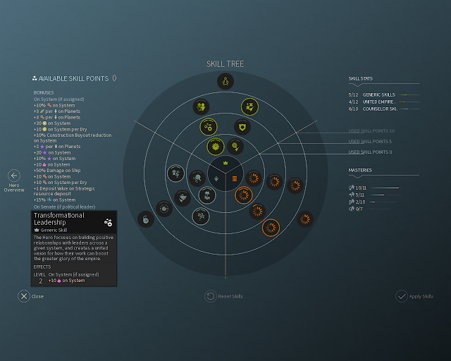 Hero Skill Tree | Endless Space 2 Screenshot