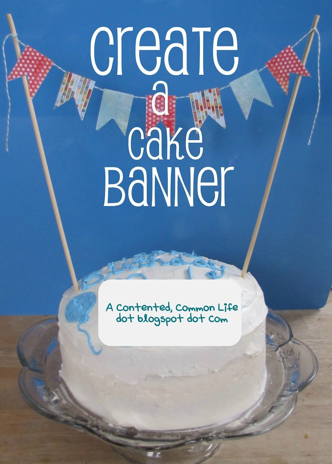 Divine image in cake banner printable